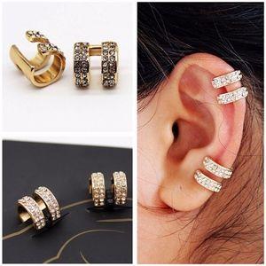 Gold Double Ear Cuff Wrap Earrings NO PIERCING~